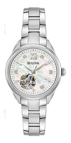 Relógio Bulova Feminino Automático 96p181 *diamantes