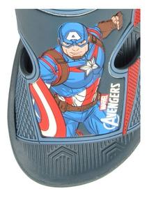 Sandália Avengers Hero Pack +brinde Promoção Capitão America