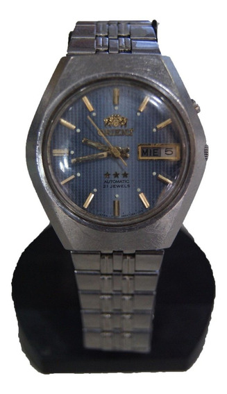 Relógio De Pulso Automático Orient Azul Déc 80