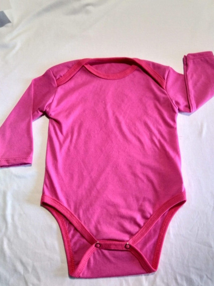 Pañalero Bebé Manga Larga Liso Algodón Para Estampar