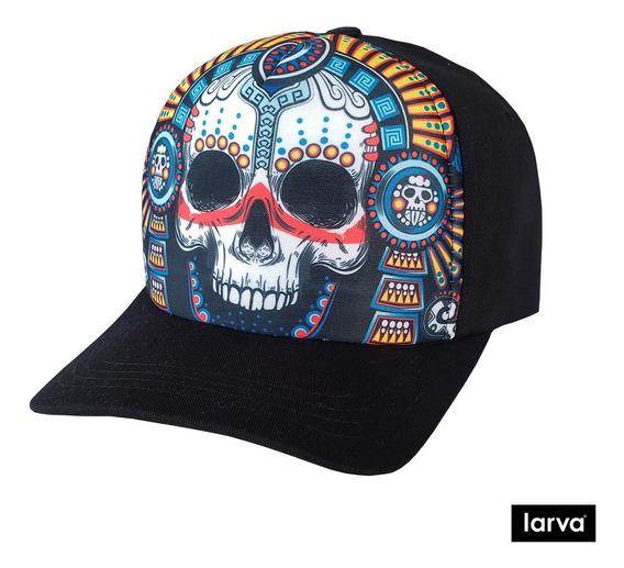 Gorra Larva Guerrero Azteca Fosforescente Raver