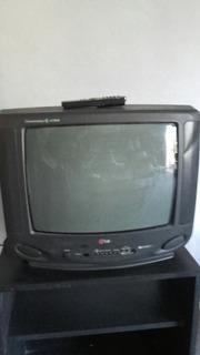 Televisor Lg 21 Pulgadas Contrl Remoto Y Mueble Con Rueditas