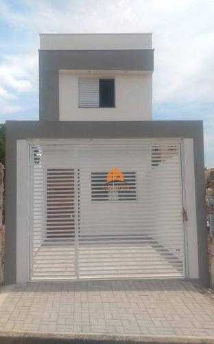 Sobrado Com 2 Dormitórios À Venda, 60 M² Por R$ 220.000 - Vila Barão - Sorocaba/sp - So1613