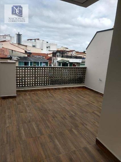 Sobrado Com 3 Dormitórios À Venda, 107 M² Por R$ 680.000,00 - Campestre - Santo André/sp - So3477
