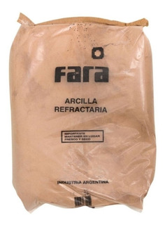 Bolsa Arcilla Refractaria 30kg Fara Tierra Refractarios