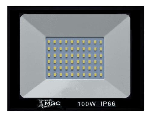 Imagem 1 de 3 de Refletor Led 100w - Holofote Branco Frio Bivolt Prova Dagua