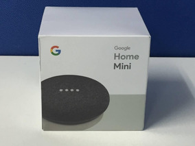 Caixinha Som Bluetooth Google Home Mini Wi-fi Cinza Escuro