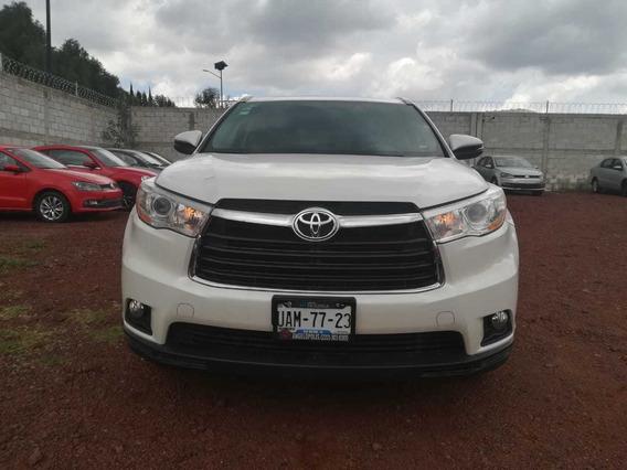 Toyota Highlander Xle 2016 Automatica Blanca