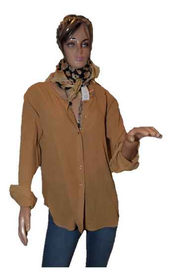 Maria Cher Camisa Color Camel Talle 2