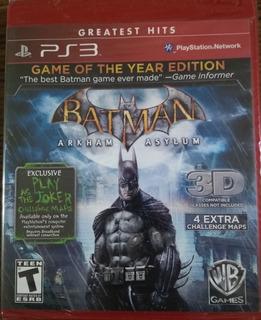 Batman Arkham Asylum Juego Fisico Para Ps3 Nuevo Sellado