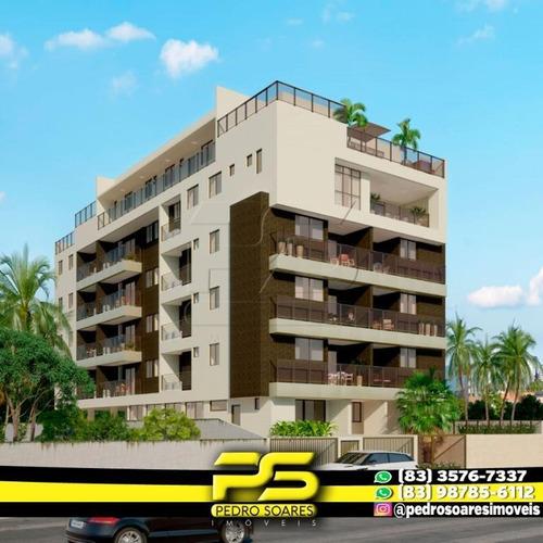 Apartamento Com 2 Dormitórios À Venda, 59 M² Por R$ 490.000 - Cabo Branco - João Pessoa/pb - Ap2978