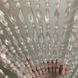 Cortina De Miçanga Acrílica Transparente Cristalina Luxuosa