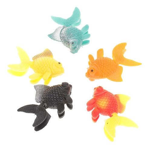 Imagen 1 de 6 de Adorno De Peces Artificiales De Plástico 5pcs Para La