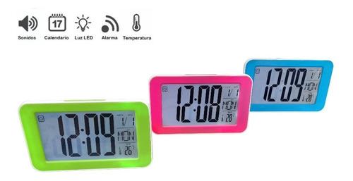 Reloj Digital Led Blanco Con Verdeds-3618l Mesa O Escritorio