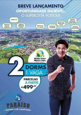 Breve Lançamento Supercittà Paraíso - Apto 2 Dorm Minha Casa Minha Vida Jd Icaraí Em Campinas/sp - Ap5722