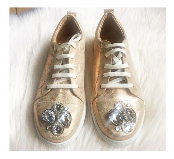 Sneaker Zapatilla Justine Mujer Cuero Alfonsina Multistore