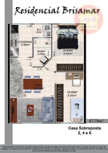 Casa Com 2 Dormitórios À Venda, 47 M² Por R$ 190.000,00 - Maracanã - Praia Grande/sp - Ca1322