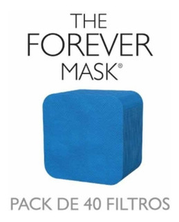 Pack Repuesto X 40 Filtros Para Máscara The Forever Mask°