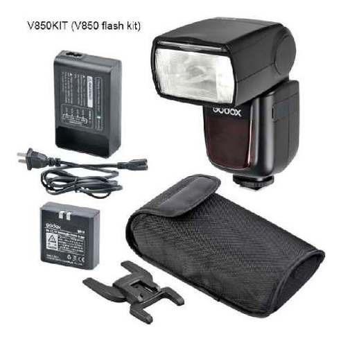 Flash Godox Greika V850 Speedlite Com Bateria Universal Par