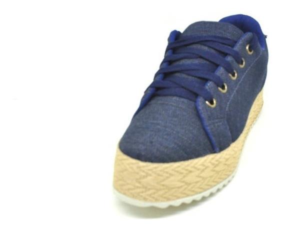 Sapatos Femininos Tenis Casual Jeans Sola Corda Dani K