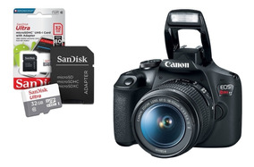 Câmera Canon Eos Rebel T7 18-55mm Is Il + Cartão Sd 32gb
