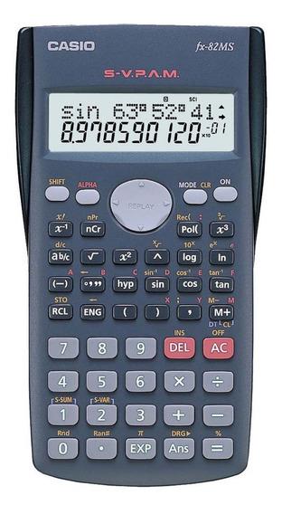 Calculadora Científica Casio 240 Funções, Visor De 2 Linhas