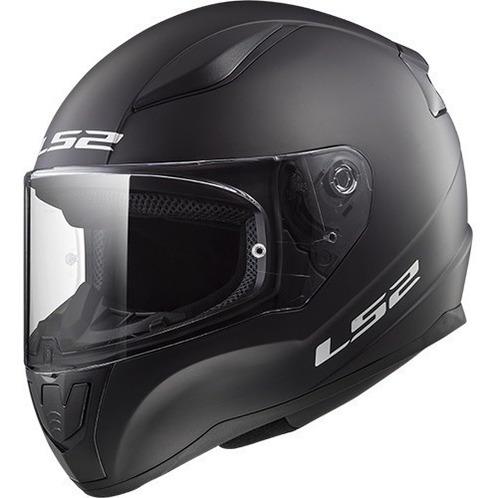 Imagen 1 de 7 de Casco Moto Ls2 Rapid 353 Negro Mate Cuotas En Devotobikes