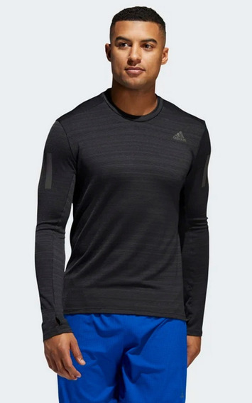 adidas Camiseta Playera Entreno Run Rise Up L Manga Larga