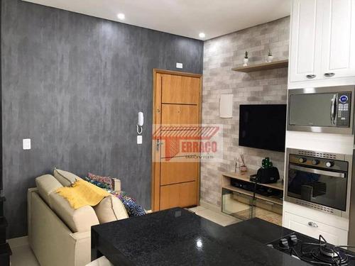 Imagem 1 de 30 de Cobertura Com 2 Dormitórios À Venda, 46 M² Por R$ 350.000,00 - Vila Cecília Maria - Santo André/sp - Co0692