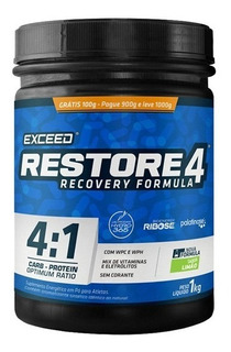 Suplemento Pós Treino Recovery Exceed Restore 4 Pote 1 Kg