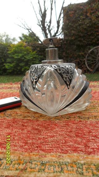 Antiguo Frasco Perfume Arte Deco Perfumero Tocador Decoració