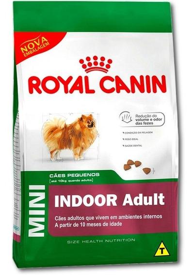 Ração Mini Indoor Adult Royal Canin Raças Pequenas 7,5 Kg