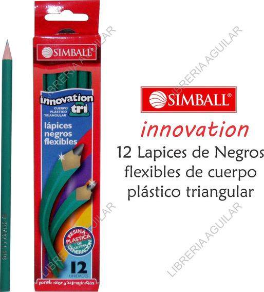 Caja De 12 Lápices Negros Grafito Hb Nº2 Simball Innovation