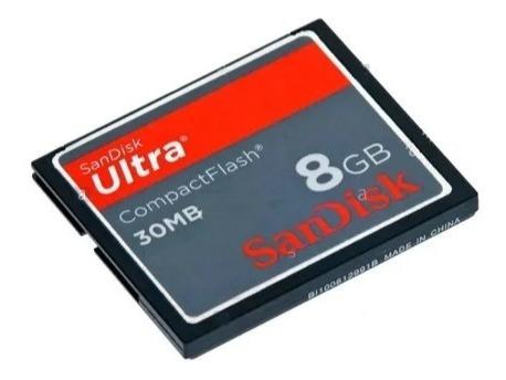 Cartão Memória Compact Flash Cf 8gb Scandisk Ultra 30mb/s