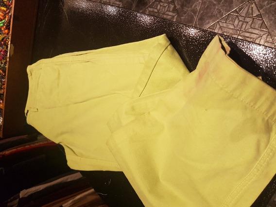 Pantalon Portsaid Verde T S (con Detalle)