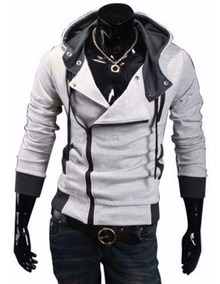 Blusa Jaqueta Moletom Moleton Frio Slim Fit Assassins Creed