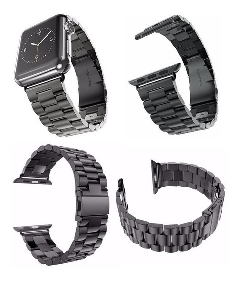 Kit 3 Pulseiras P/ Smart Watch 1,2,3,4: Inox + Nike + Couro