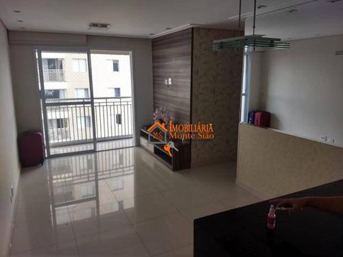 Apartamento Com 3 Dormitórios À Venda, 68 M² Por R$ 404.300,00 - Ponte Grande - Guarulhos/sp - Ap2830