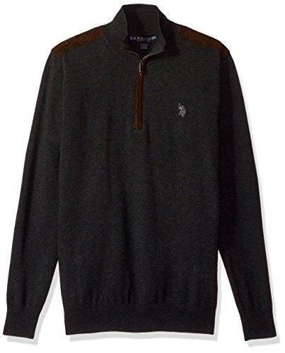 Suéter Strech U.s. Polo Assn. Hombre, Color Gris Talla L