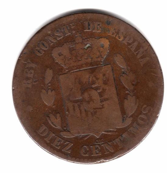 España Moneda 10 Centimos Año 1878 Km#675