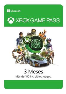 Xbox Game Pass 3 Meses - One - Código Digital +100 Juegos - Tienda Oficial