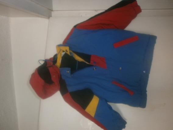 Chaqueta Impermeable Tricolor Niño Talla T4 Gruesa