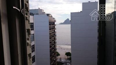 Apartamento Com Vista Mar 3 Quartos, 2 Vagas À Venda, 185 M² Por R$ 1.100.000 - Rua Coronel Moreira Cesar Icaraí - Niterói/rj - Ap2285