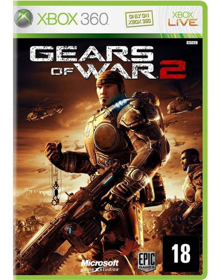 Gears Of War 2 Xbox 360 Jogo Original Completo Mídia Física