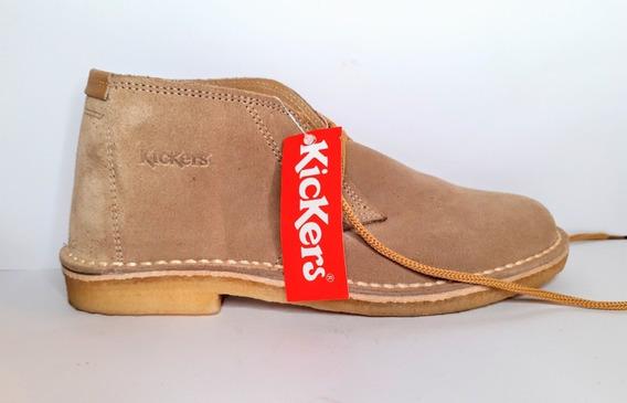 Botita Kickers Kick Jeune Kad105094 Gamuza Cordón Crepe
