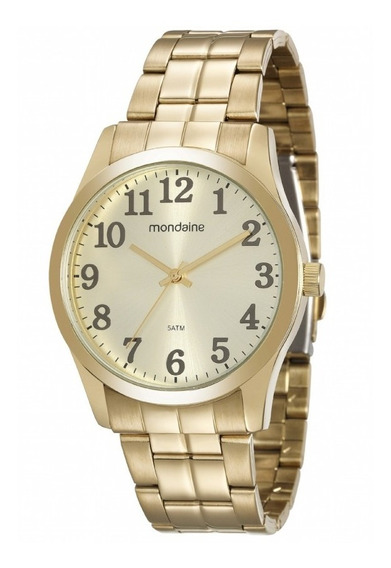 Relógio Feminino Dourado Mondaine Original Ref99192gpmvde2