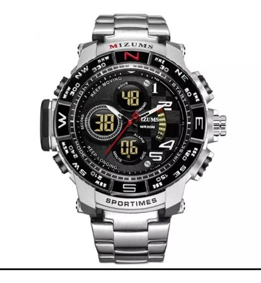 Relógio Mizums Original Fundo Preto Frete Grátis