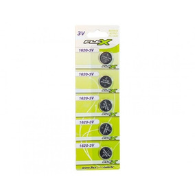 Bateria Cr1620 - Fx-1620 3volts Botão Cartela 5 Pçs Flexgold