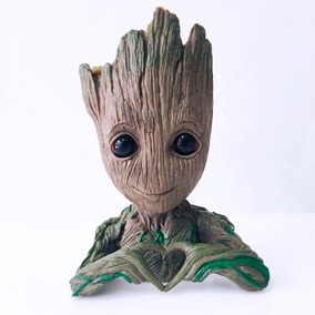 Baby Groot Vaso Porta Objetos Marvel - Igual O Da Foto!