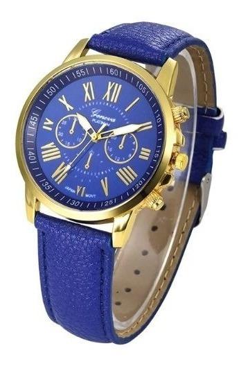 Relógio Unissex - Algarismos Romanos Pulso De Quartzo